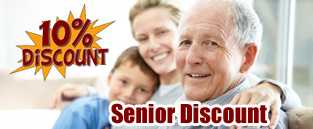 We're proud to offer a 10% Discount to Senior Citizens